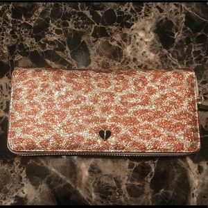 Kate Spade Leopard Metallic Wallet NWT